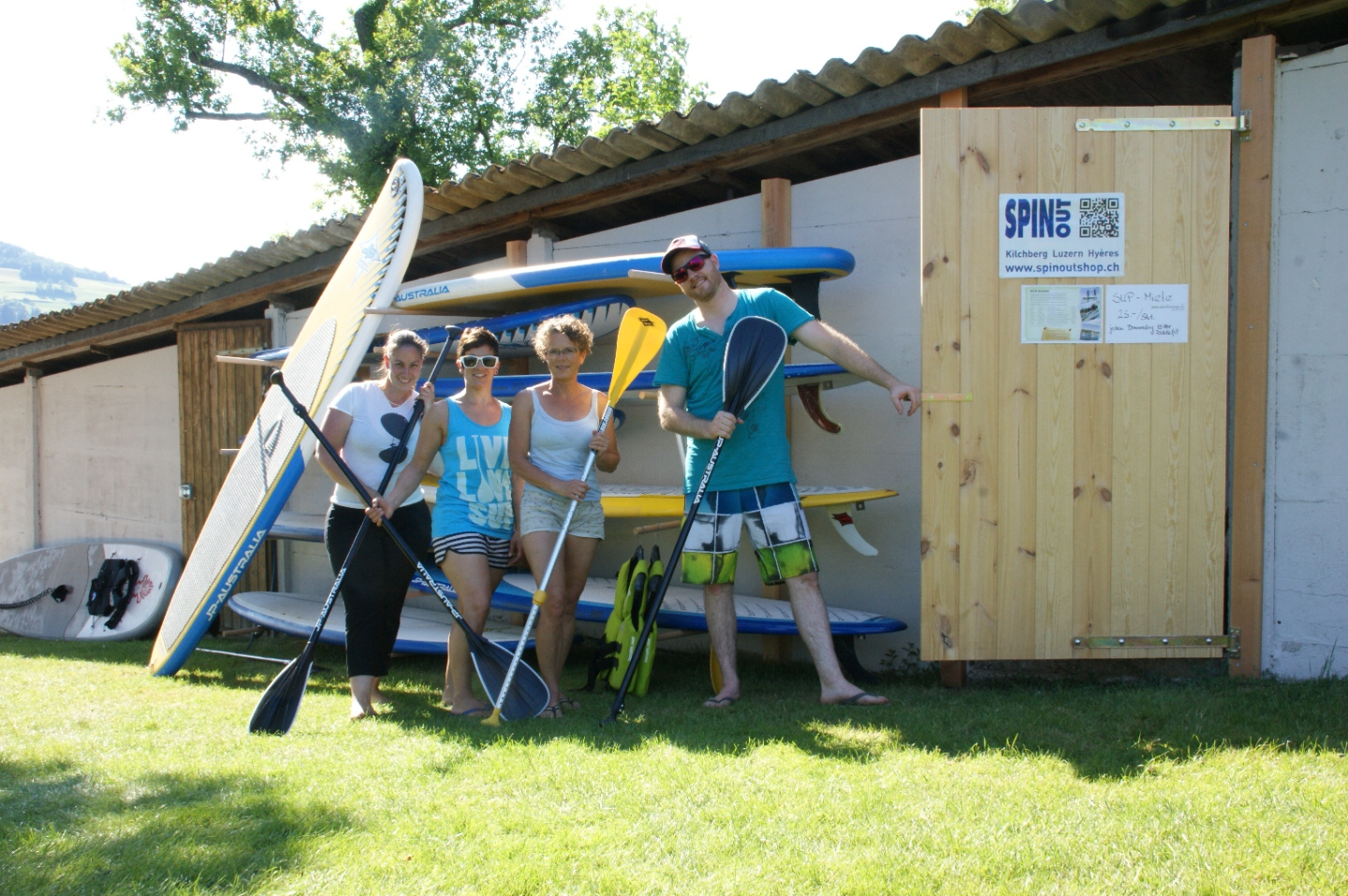 SUP Station Spinout in der Strandbad Seerose