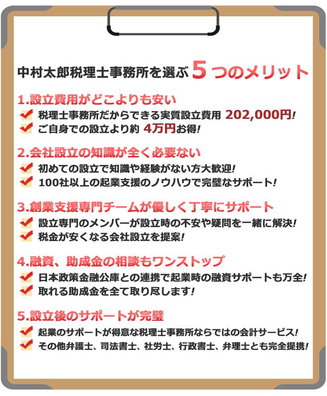 中村太郎税理士事務所を選ぶ5つのメリット