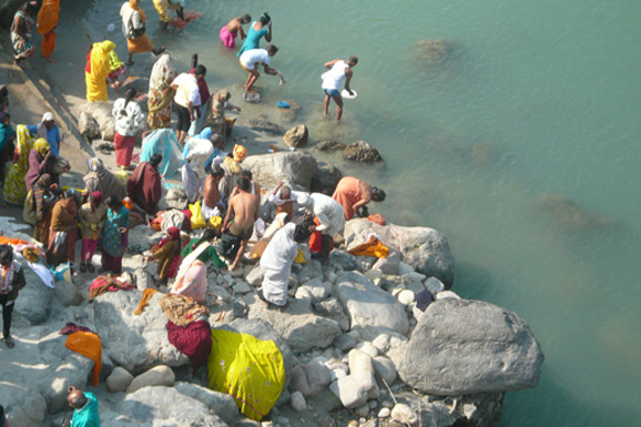 baden in clean mother Ganga