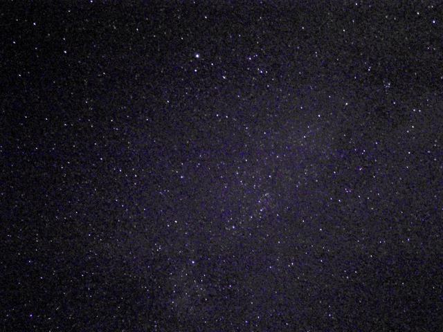 陸前高田の夜空、満天の星空でした