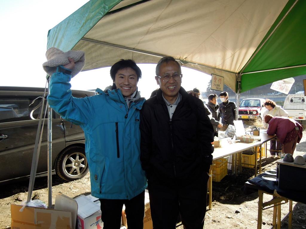 夏に伺った山田町で出会ったお父さん!遊びに来てくれました。