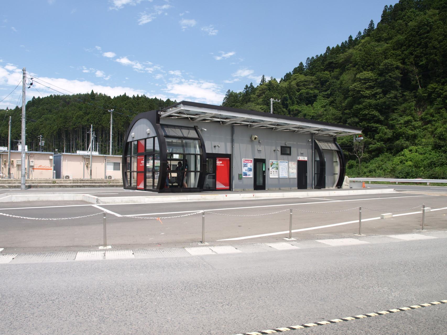 JR志津川駅(BRT バス)も隣接しています。