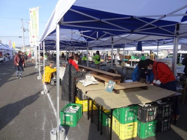 イベント当日、朝7時半。天気は快晴、準備開始です!