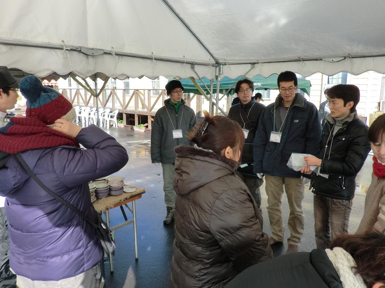 開始前のミーティング、今回は東松島から強力な助っ人が来てくれました