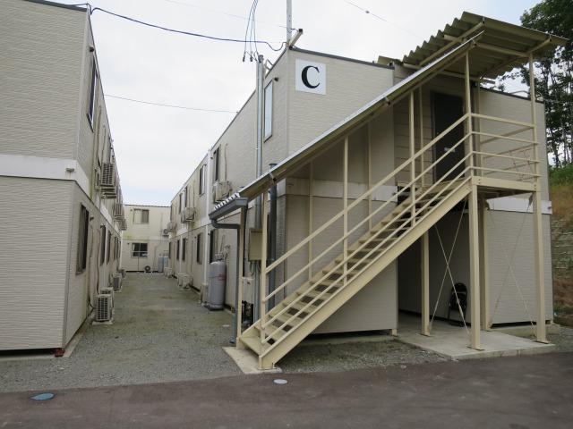 今回お世話になったプレハブの宿泊施設。現在ではだいぶ少なくなった原発除染作業者の宿をご紹介いただきました。