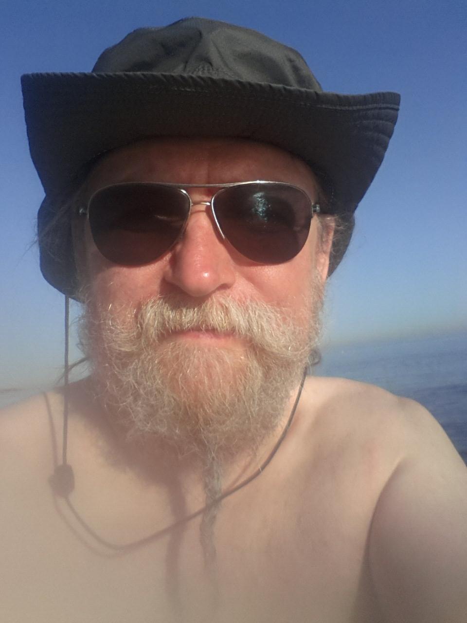 Ma 'n selfie am Strand