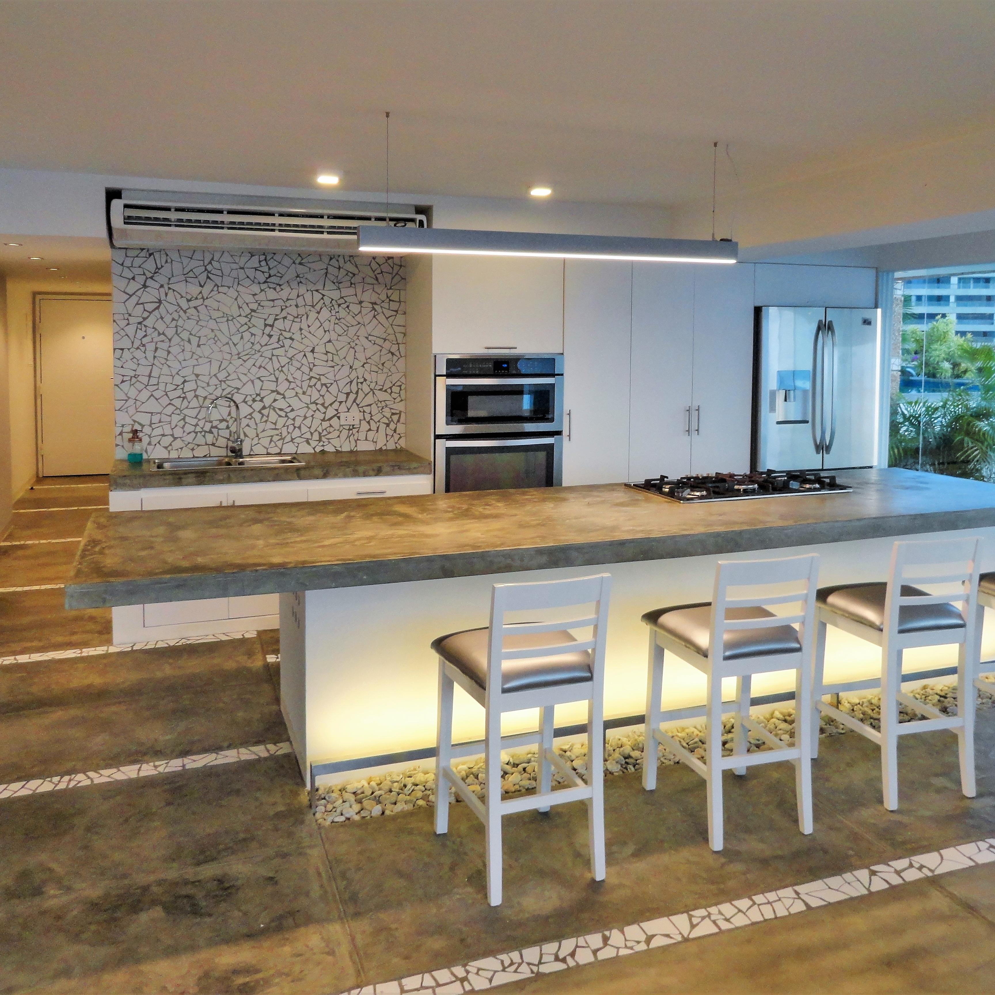 Diseño Interior, Apartamento, Remodelación, Concreto