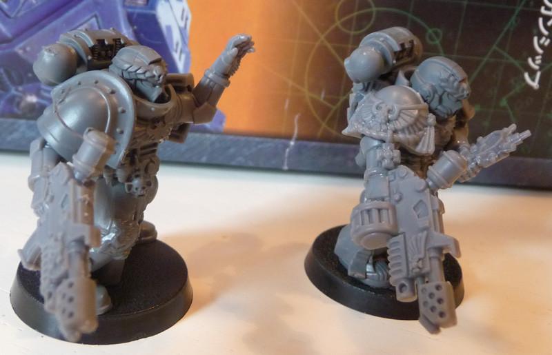 Space Marine Veteranen mit Kombi-Flamer