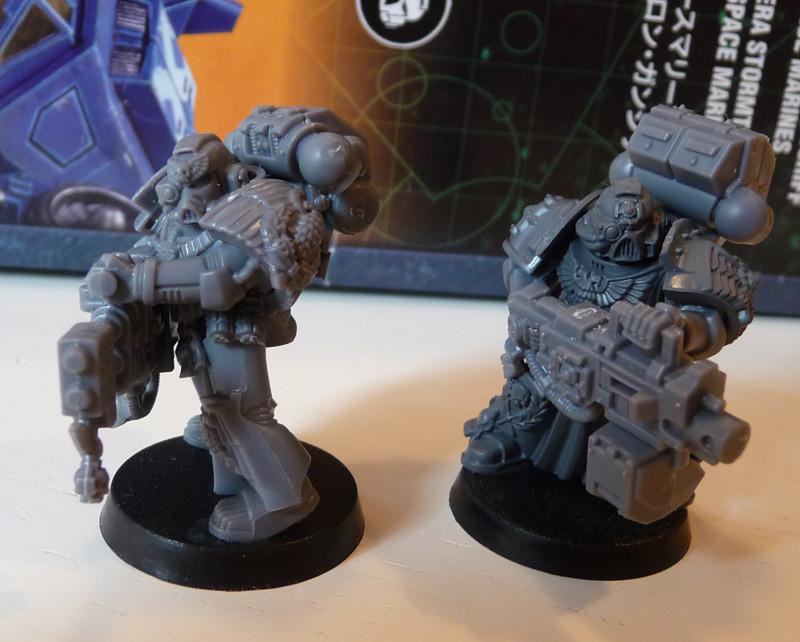 Space Marine Protektorgarde schweren Waffen (schwerer Flammenwerfer und schwerer Bolter)