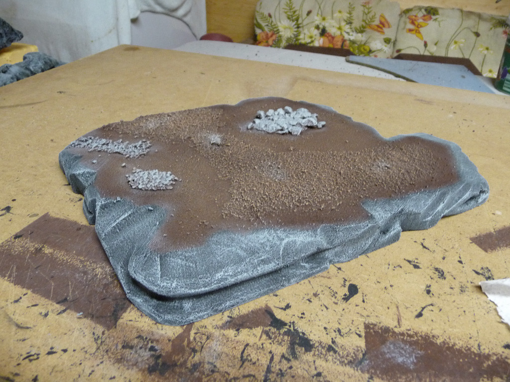 Entstehung Felsenplattform (drybrushed)
