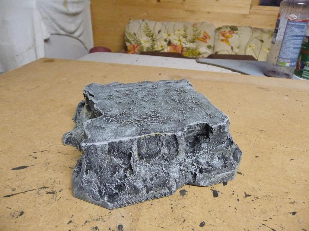 Entstehung geteilter Berg part 1 (drybrushed)