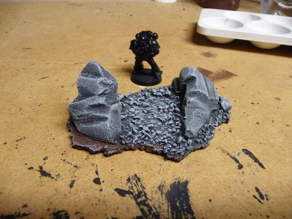 Entstehung Felsenbase 01 (drybrushed)