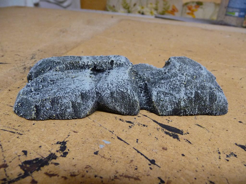 Entstehung Felsenkleinteil (drybrushed)
