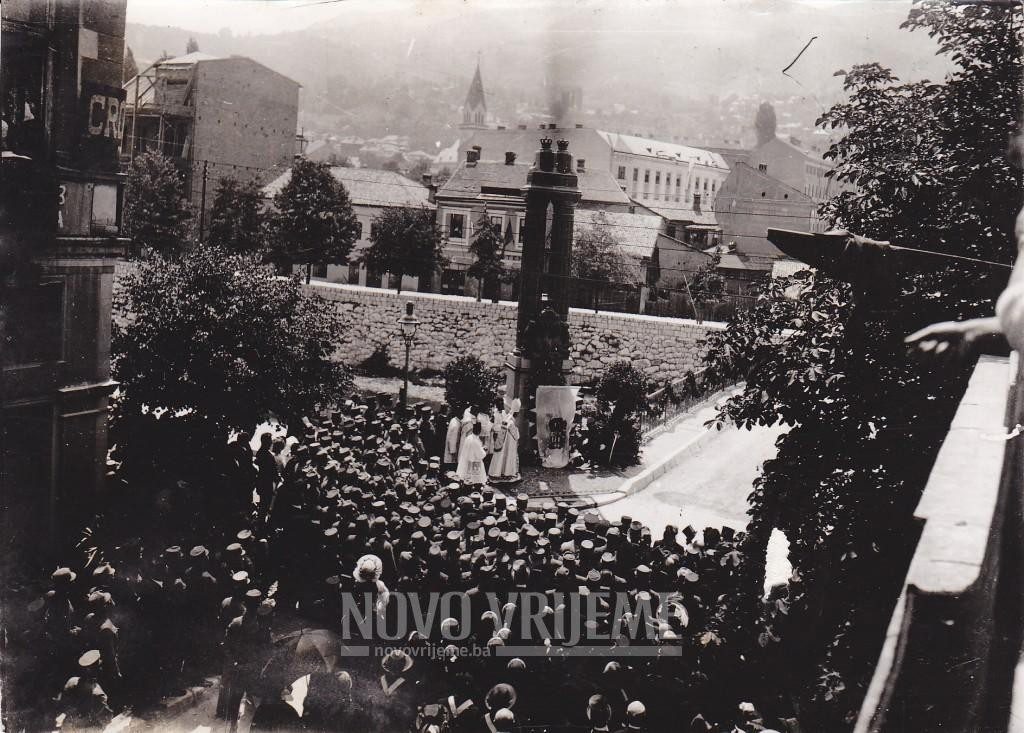 Svečano otkrivanje spomenika 1917. godine