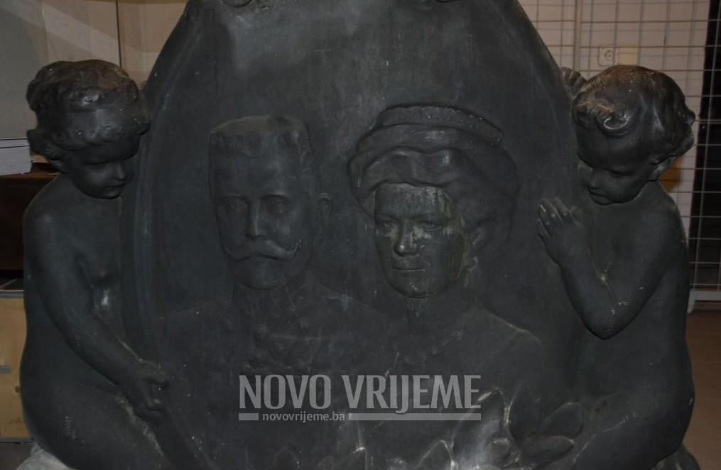 Brončani medaljon koji se nalazi u Umjetničkoj galeriji BiH