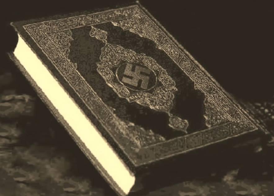 """Svim dragovoljci Handžar divizije  poslije zakletve poklon  """"Kuran""""  od Adolfa Hitlera"""