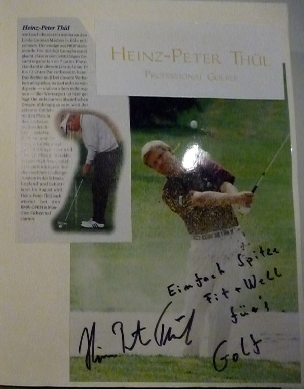 Heinz Peter Thül- Golf Professional