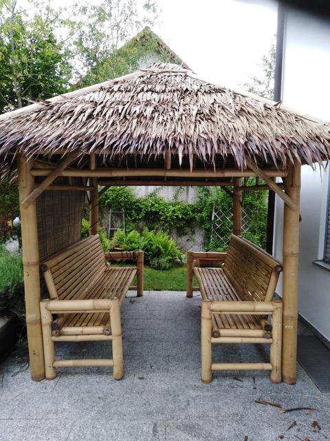 Bambus-Living 2019 Prototyp eines Gazebos in H-Ausführung