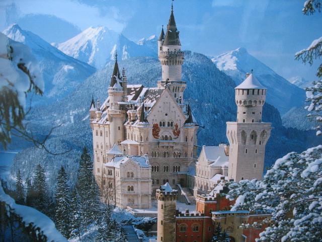 冬のノイシュヴァンシュタイン城
