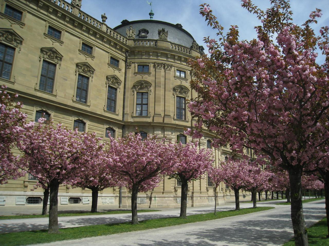 ヴュルツブルクの「レジデンツ」(大司教の宮殿)