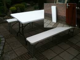 bierbank pickniktafel tafel met 2 banken klaptafel buffettafel opklapbaar