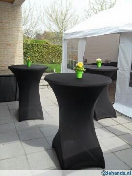 biertafel klaptafel partytafel hangtafel met of zonder omslag rok te huur nieuw vennep