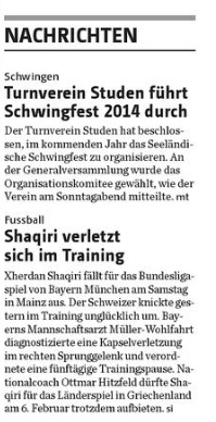 Bieler Tagblatt, 29. Januar 2013 Seite 19
