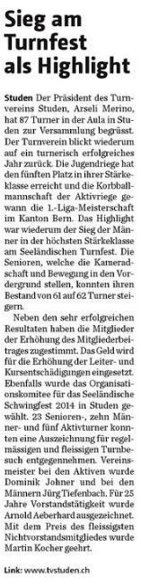 Bieler Tagblatt, 12. Februar 2013