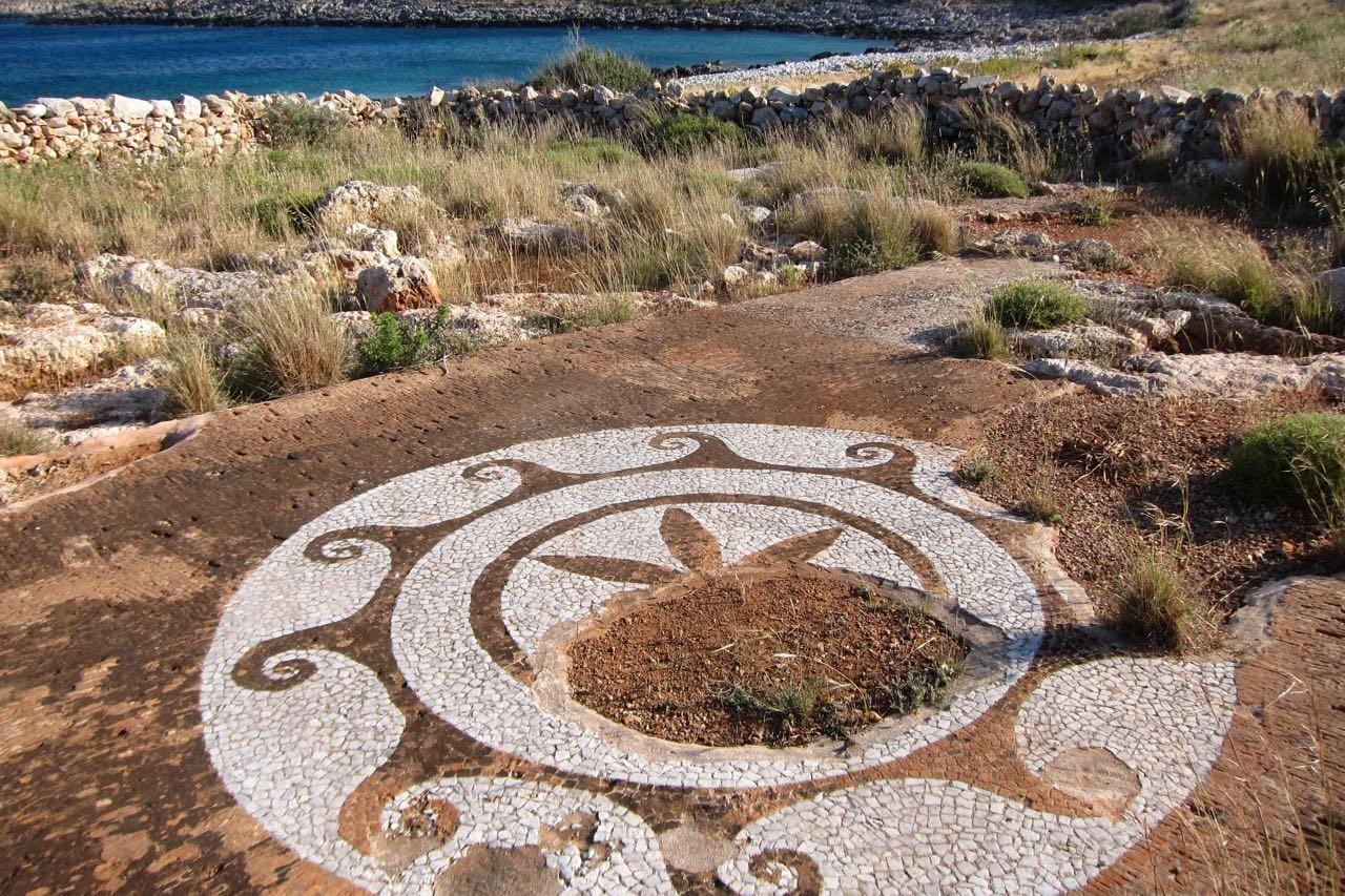 Altes Bodenmosaik – Wanderung Kap Tenaro