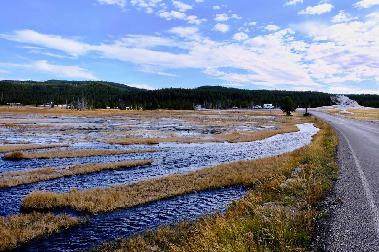 Flusslandschaft Yellowstone
