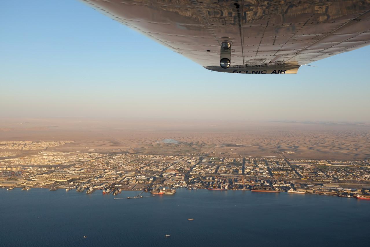 Walvis Bay von oben Namibia