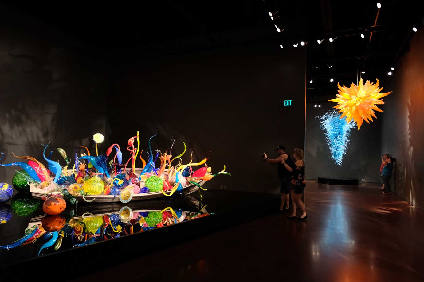 Glasboot 'Chihuly Garden and Glass' Ausstellung Seattle