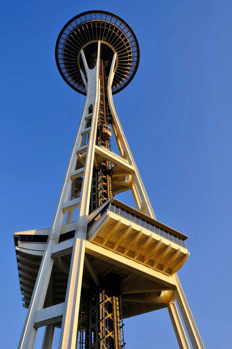 Space Needle in neuem Glanz, Seattle