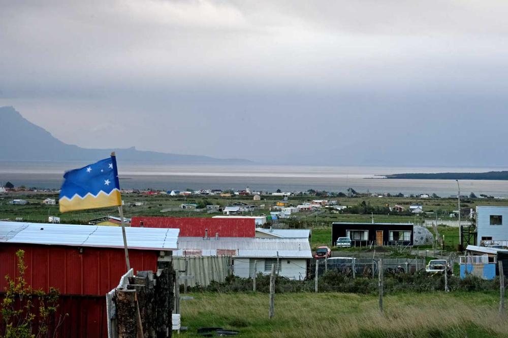 Vorstadt von Puerto Natales