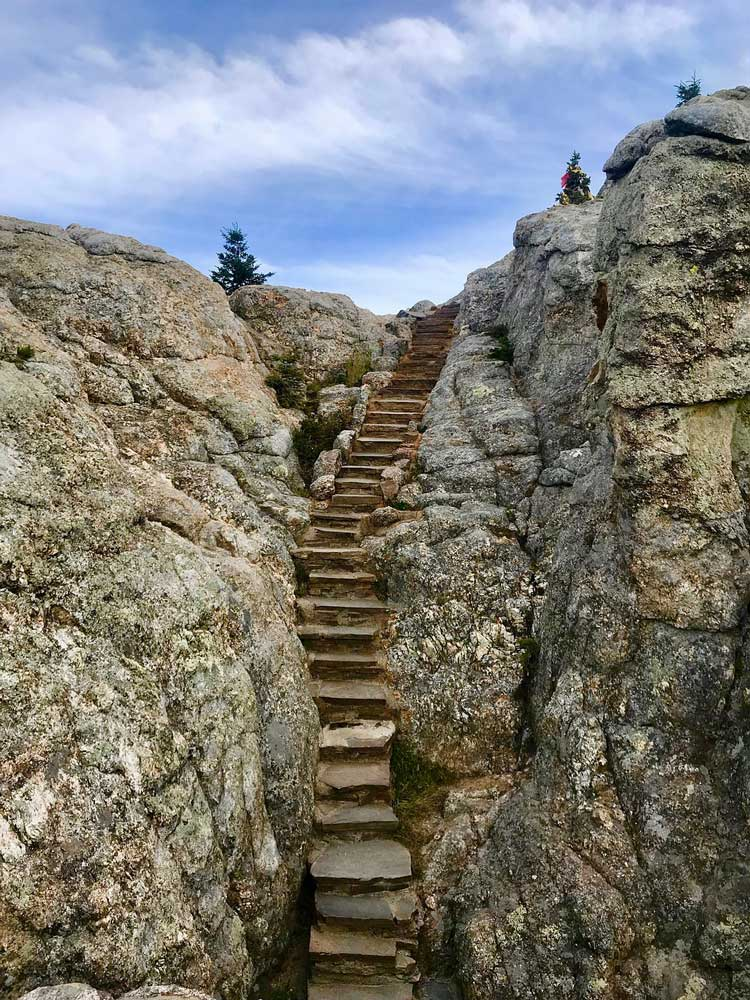 Black Elk Peak Trail Stufen