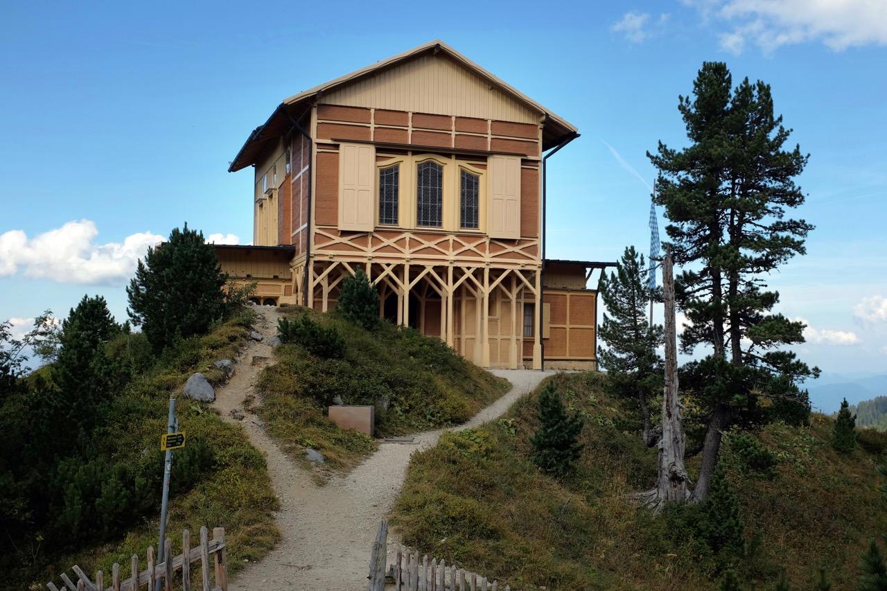 König Ludwigs Schachenhaus auf 1.900m
