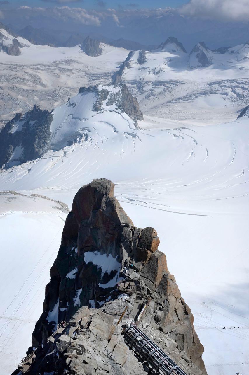 Besuchertunnel auf der Mont Blanc Aussichtstation, Chamonix