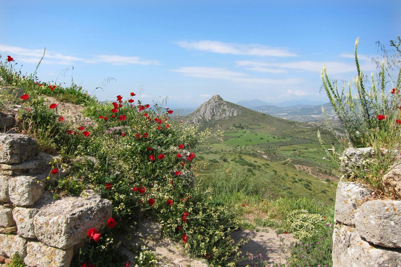 Von Akrokorinth – herrliche Landschaft von Korinthia