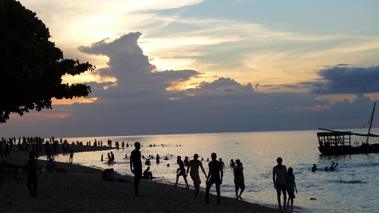 Am Strand von Stone Town, Zanzibar City