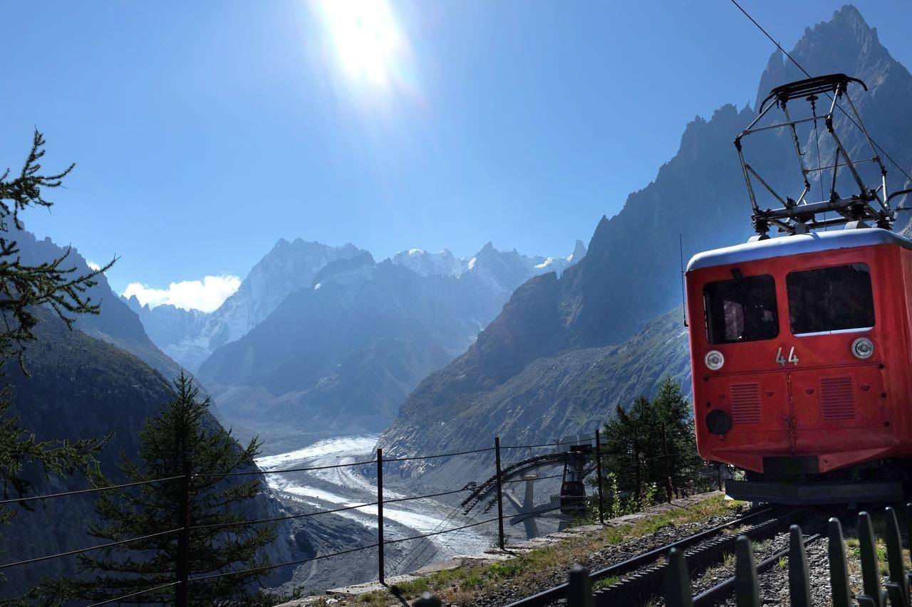 Montenvers Bahn am Mer de Glace, Chamonix