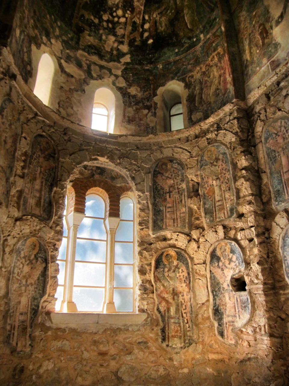 Mystras einzigartige byzantischen Fresken