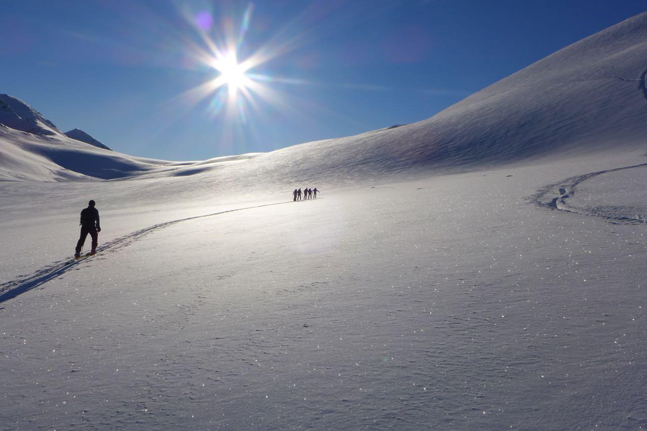 Zweiter Aufstieg auf den Rundfjellet - Lyngen Alps Skitour