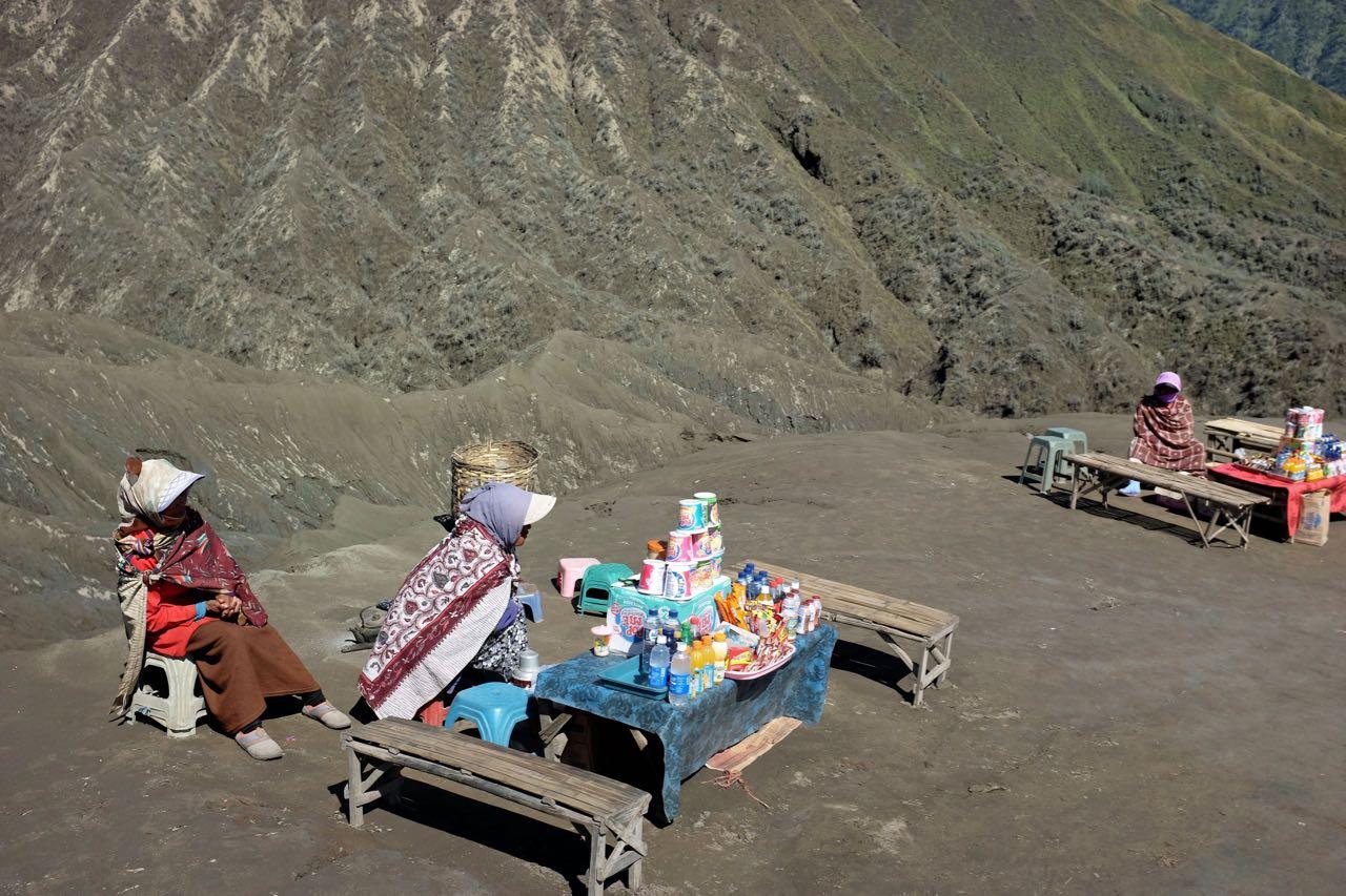 Verkaufsstände am Bromo Vulkan