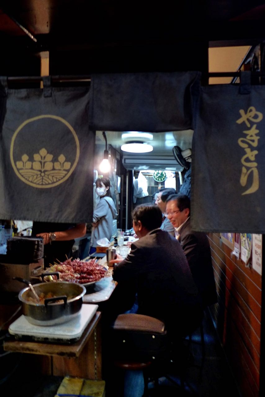 Omoide Yokocho Yakitori Piss Alley Shinjuku Tokio food street