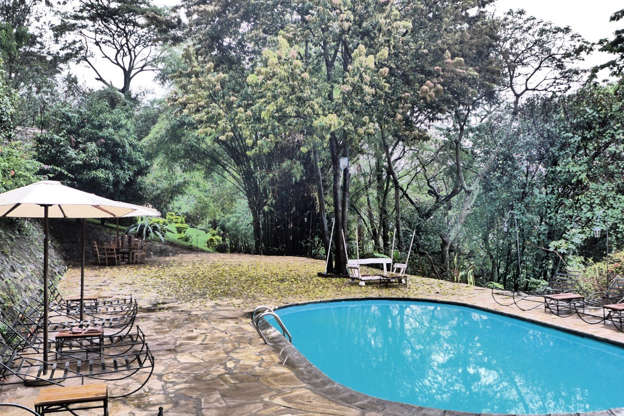 Zu kühl für den Pool heute – Karama Lodge Arusha