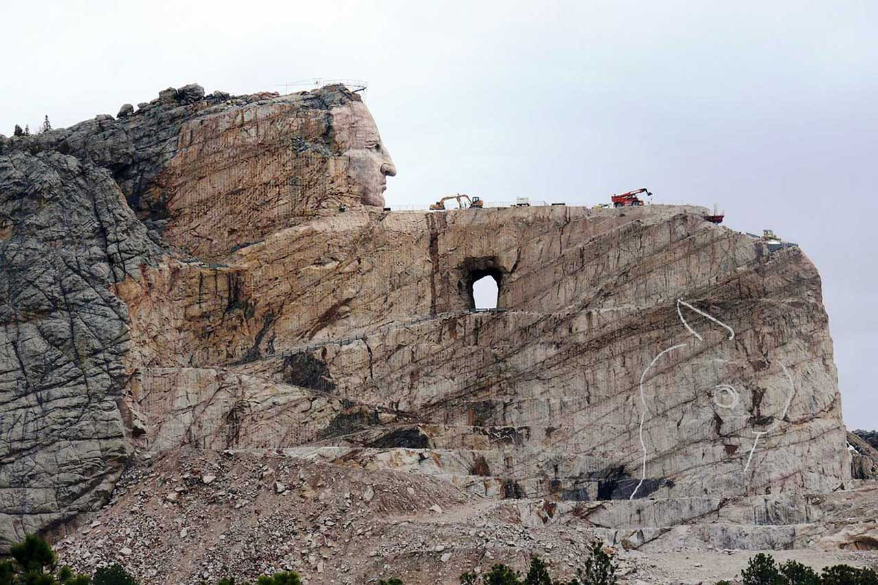 Work in progress - Crazy Horse Memorial
