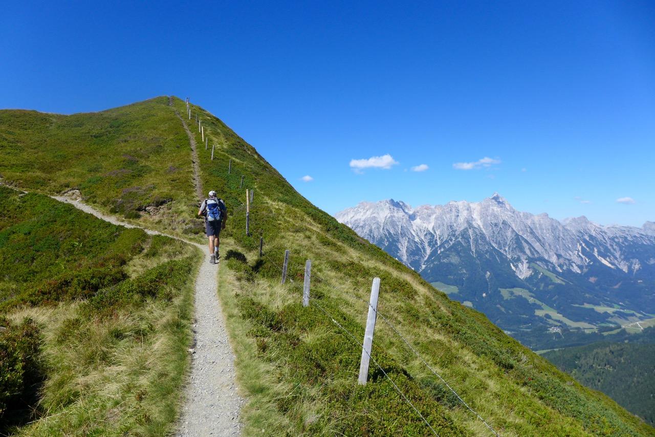 Wanderweg Saalachtaler Höhenweg bei Leogang