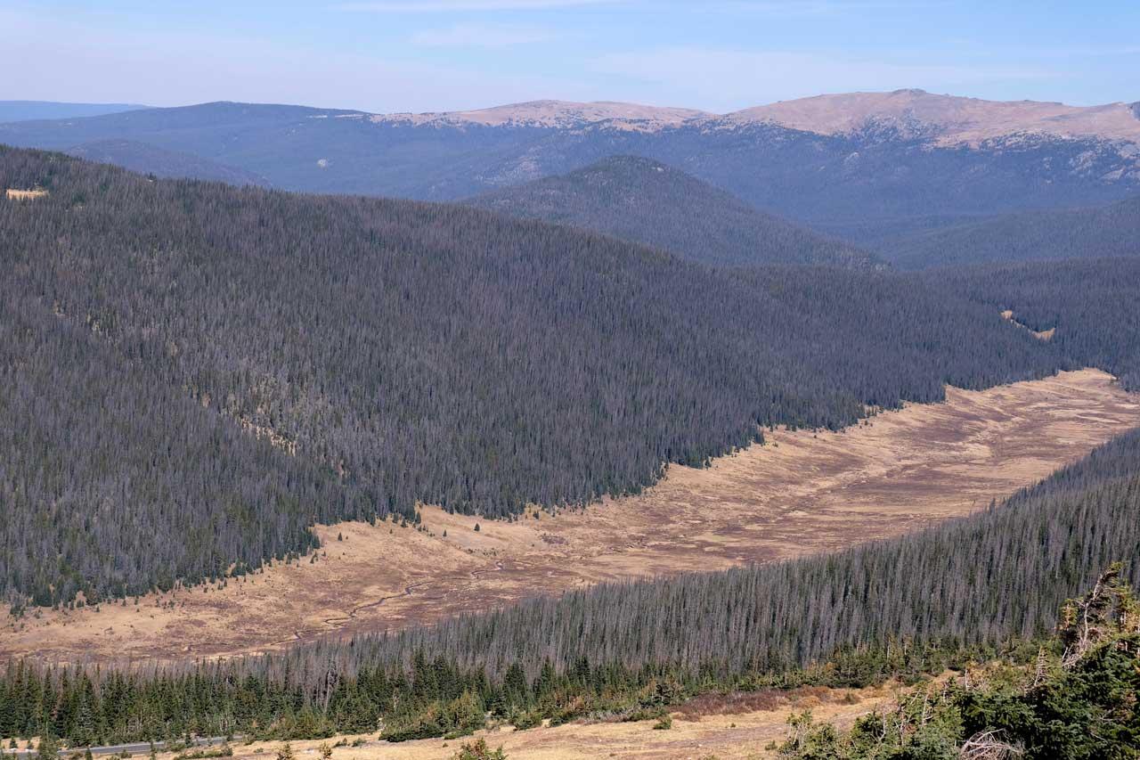 Rocky Mountain  Landschaft von der Trail Ridge Road