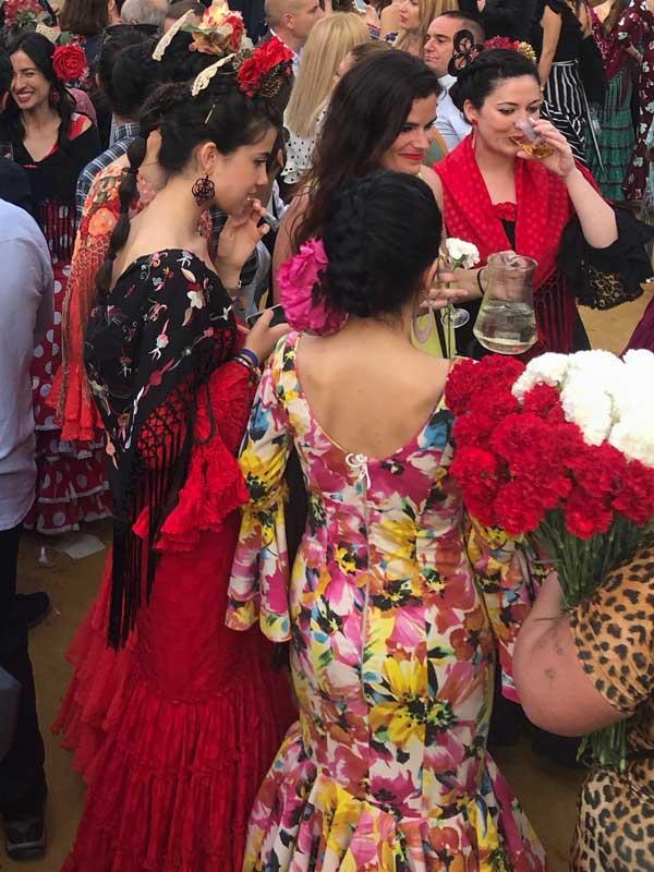 Flamenco-Kleider zur Feria de Abril Sevilla