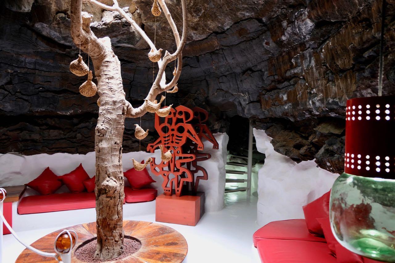 César Manrique Vulkanhaus Museum, Zimmer in einer Vulkanblase